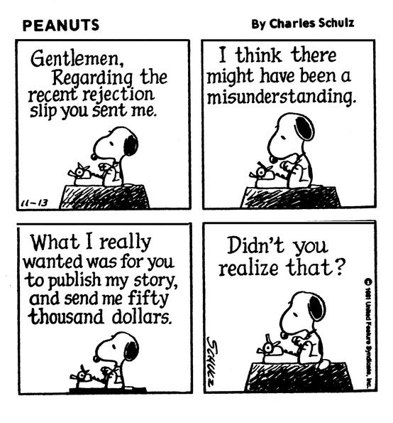 Peanuts Cartoon by Charles Schulz