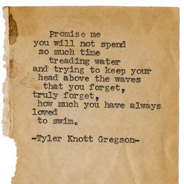 Tyler Knott Gregson Poem