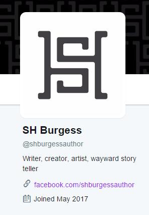 Twitter account @shburgessauthor
